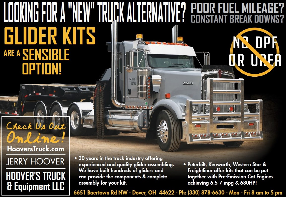 Cat Powered Glider Kits is our specialty giving you the advantage of better fuel economy with Peterbilt & Kenworth